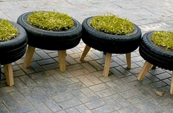 Tyre garden chairs kids fun pinterest gardens tyre for How to make tire furniture