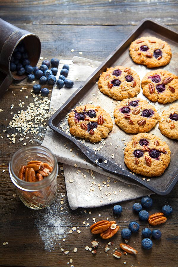 Cookies aux myrtilles, noix de pécan et sirop d'érable - 100 % Végétal / Cuisine vegan, bio et healthy