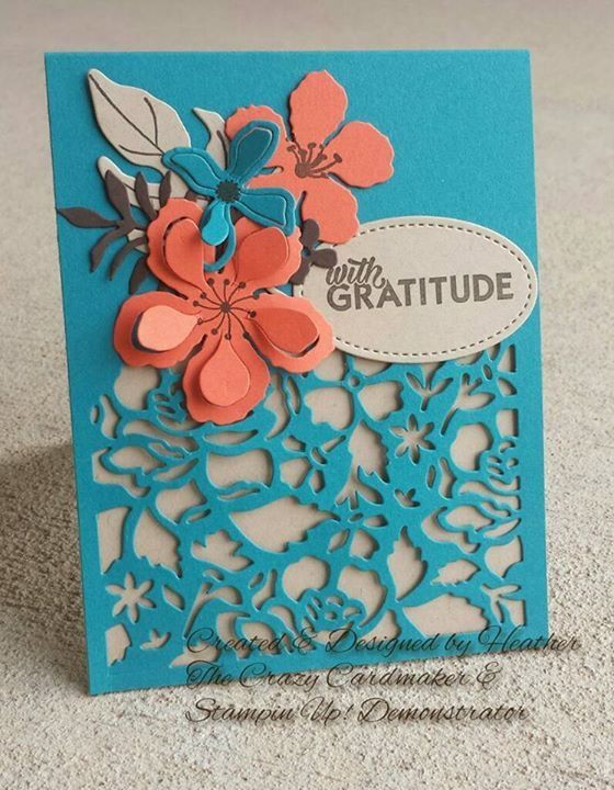 Stampin' Up! Detailed floral thinlit, botanical blooms, Builder, fun colors, Stampin up