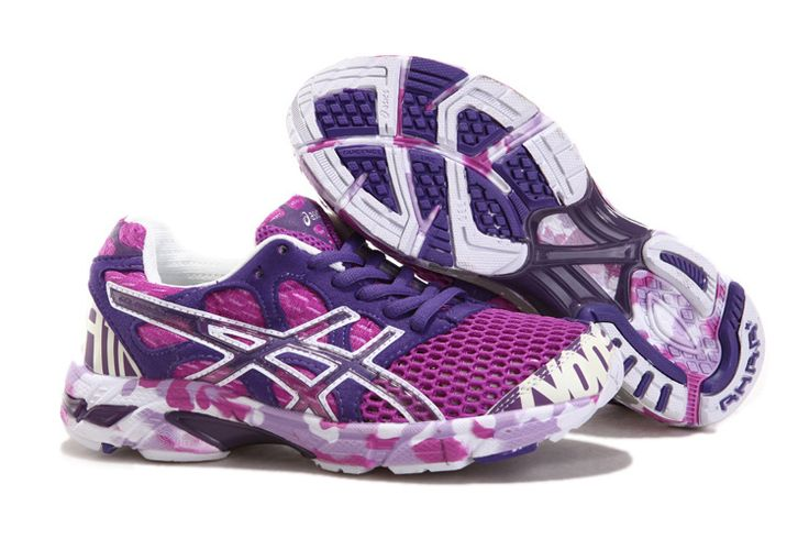 Best Running Shoes for Women | Women Colorful Purple White Running Shoes [Asics 7th Women's Shoes ...