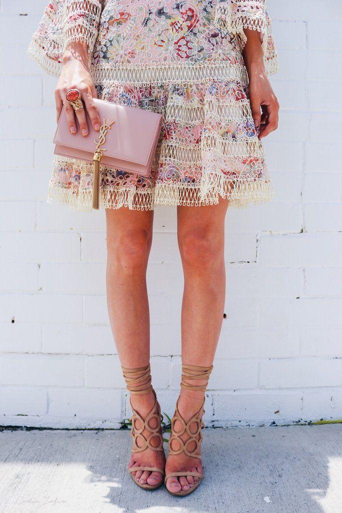 Saint laurent kate chain wallet – blush pink  3edd865388a96