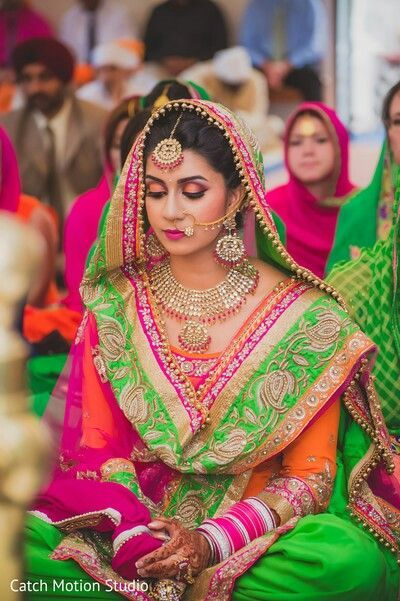 Punjabi Bride... Photo Credits : Catch Motion Studio