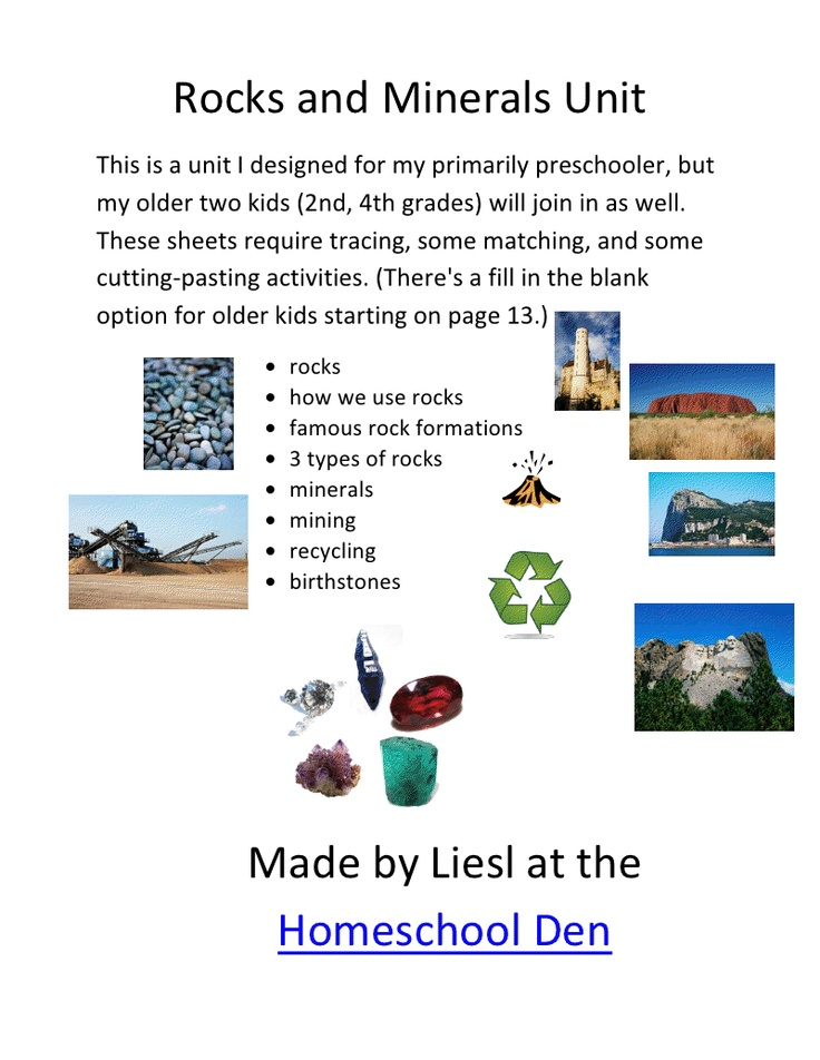 Rocks and Minerals Unit.pdf - Google Drive | Worksheets ...