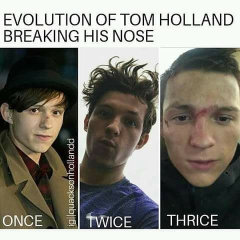 well he didn't really break his nose the third time, but yea he's