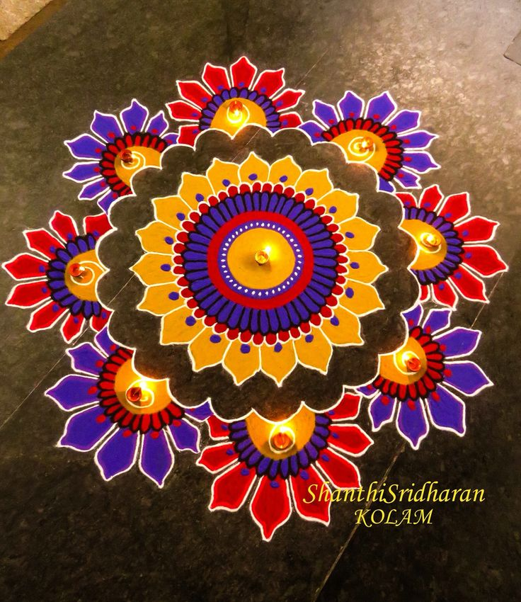 #mandala#kolam#purple#red