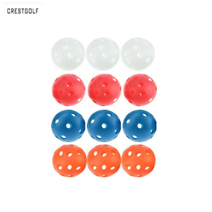 12 stücke X 72mm plastikgolfball Pickleball Luftstrom Ball Unihockey Hohl Indoor Praxis Ball spaß-air scoop ball Golf Zubehör