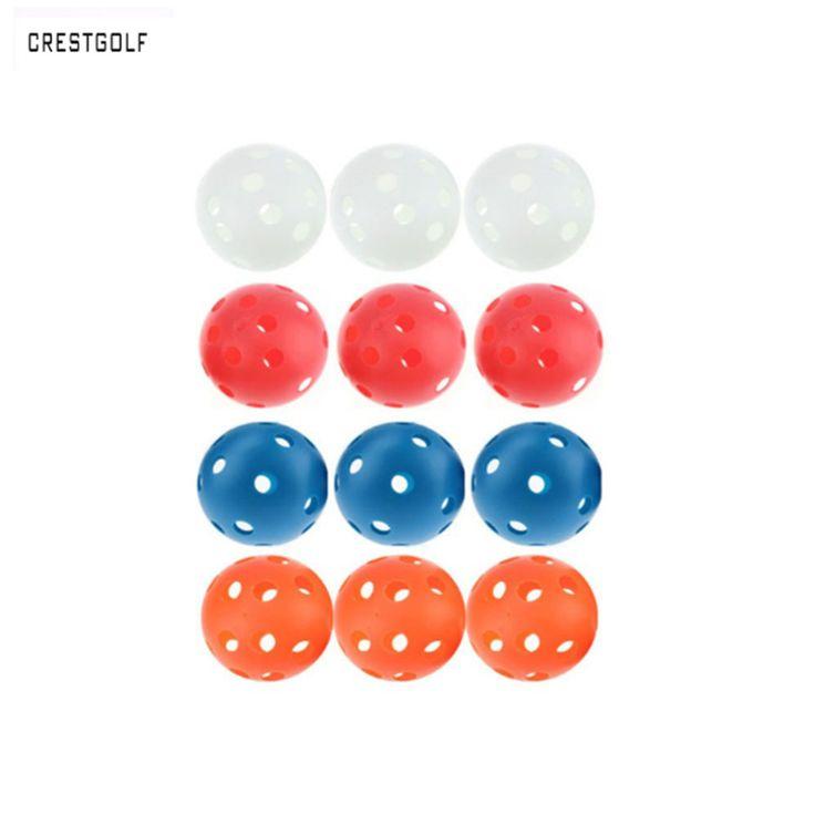 """12 יחידות X 72 מ""""מ פלסטיק כדור גולף בפועל מקורה חלולים Floorball כדור Pickleball זרימת אוויר הסקופ אוויר כדור כיף-כדור גולף אבזרים"""