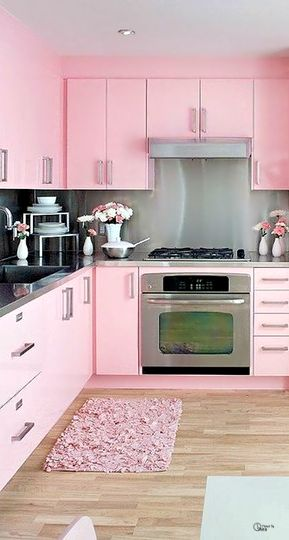Pink cotton candy kitchen