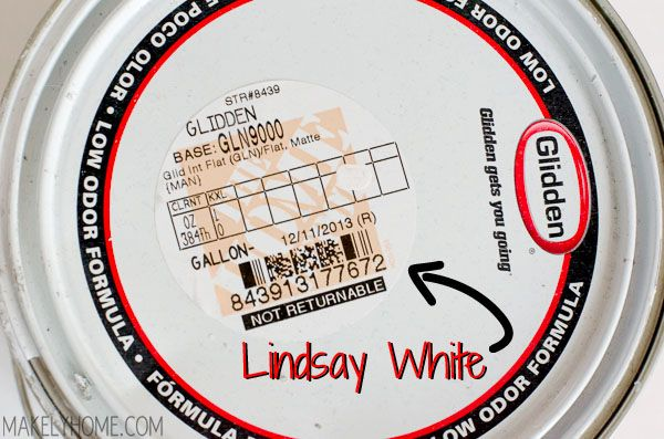 Appropriate for me: Formula for 'Lindsay White' - the brightest and most crisp white there is via MakelyHome.com