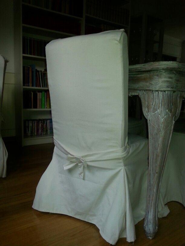 Coprisedia realizzato a mano. Per allungare lo schienale della sedia: gomma piuma
