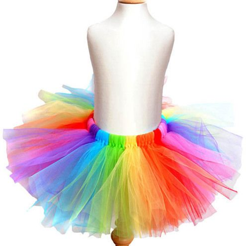 Adult Sized Rainbow Tutu  I want to do Electric Run, and i wan to do it in a cute tutu like this