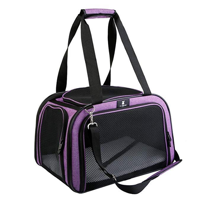 79ccab433868 X-ZONE PET Pet Carrier for Dog and Cats, Airline Approved Soft-Sided ...