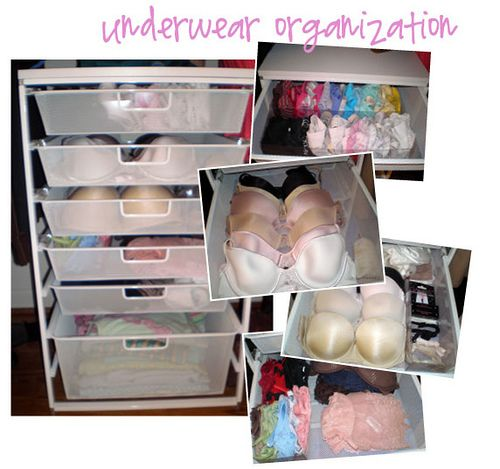 Great advice on organizing lingerie!