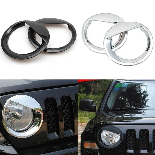 Exterior Car Styling Abs Chrome Angry Bird Style Bezels Front Light Headlight Trim Cover Sticker For Jeep Patriot 11 16 In 2020 Jeep Patriot Jeep Patriot Accessories Jeep