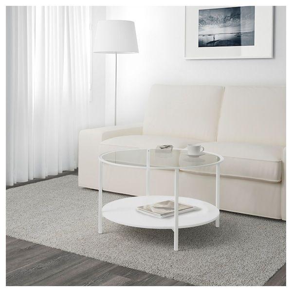 table basse blanc verre 75 cm ikea