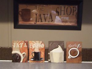 Coffee Themed Decorative Coffee Themed Ceramic Kitchen Wall Decor Plaques