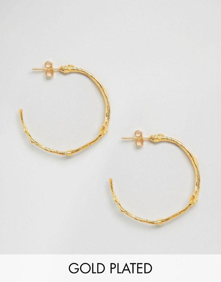 Ottoman Hands | Ottoman Hands Branch Hoop Earrings at ASOS