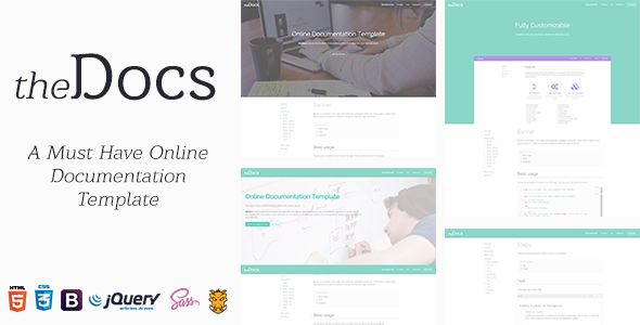 theDocs - Online Documentation Template (Software) Download - software manual template
