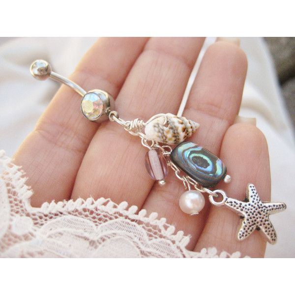 Belly Button Jewelry Ring- Abalone Real Seashell Shell Beach Mermaid... ($17) ❤ liked on Polyvore featuring jewelry, belly ring, piercings, rings, accessories, abalone jewelry, abalone shell jewelry, starfish charm, starfish jewelry and pearl jewelry