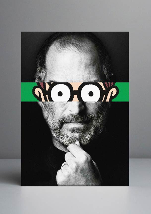 """""""Celebridades Animadas"""", une série de mashups du graphic designer et art director portugais Rui Pinho, qui s'amuse à imaginer des parallèles entre célébr"""