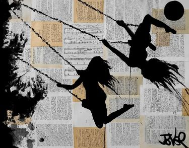 """With so many Swing-Spiring art pieces to Pin through, wouldn't it be grand to change out artwork throughout the house to reflect the change and mood of each season? - Repinned: """"Saatchi Online Artist Loui Jover; Drawing, """"summer""""..."""""""