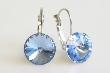 earrings Rivoli 12 mm light sapphire  made with Swarovski®  Elements Click to view the picture detail.