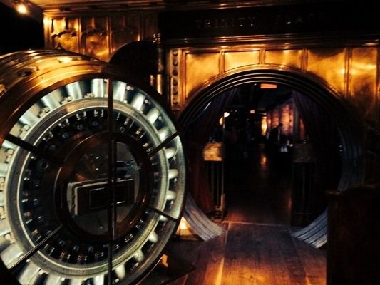 Trinity Place Bank Vault Bar   This lower Manhattan bar is set up in an old bank vault that rests beneath a skyscraper that hides even more historic splendor