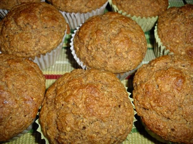 Oat Bran Muffins (Weight Watchers 3 Points) from Food.com: I got this from a Weight Watcher meeting. If made as shown, 1 mini-muffin is 0 points; full-sized muffins are 3 points, There is no need to use muffin liners; these just slide right out of the pan. Flax seed in this recipe makes it unique.