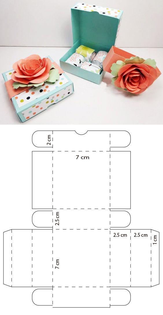 Mini caja de pizza para chocolates – #Caja #Chocol…