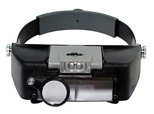 Head Set Magnifier Magnifying Glass Lens LED Light  Band Visor Loupe Eye NEW #HeadSetMagnifier