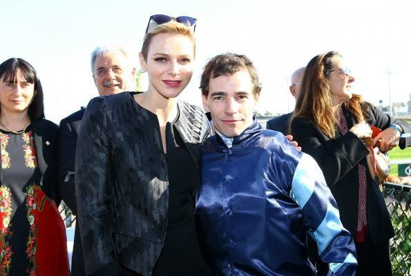 "On February 25, 2017, Princess Charlene of Monaco attended the ""Prix Princesse Charlène de Monaco-Charity Mile"" race event at the Hippodrome de la Côte d'Azur in Cagnes-sur-Mer, France. It is being hosted by the Côte d'Azur Racing Society and is the first ever Charity Mile to be held in France. (Princess Charlene wore Akris Ilka Jockey Jacquard Short Jacket and Akris Silk Crêpe Jumpsuit)."