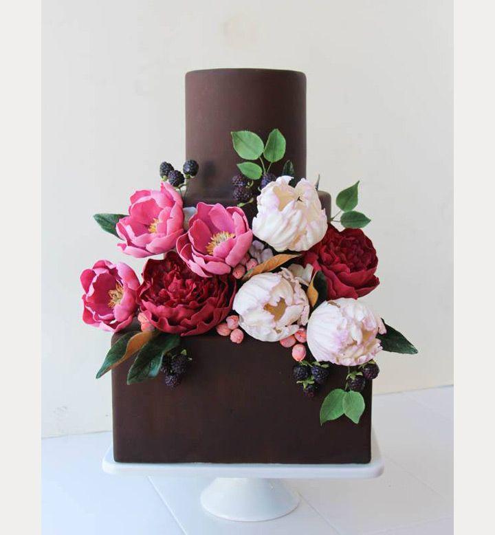 Wedding Cake Sugar Flowers: 164 Best Wedding Cake Inspiration Images On Pinterest