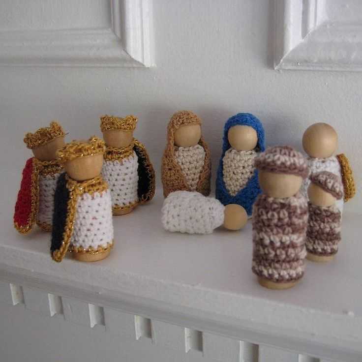 Nativity Peg Dolls Play Set
