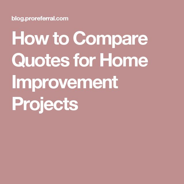 How to Compare Quotes for Home Improvement Projects