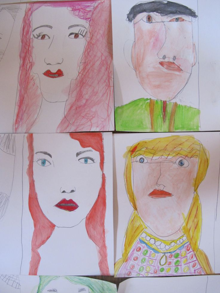 Some of our fab portraits from today's #FineArt4Kids #ArtClass in #Hampstead using the influence of Leonardo Da Vinci!