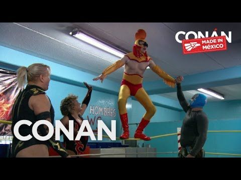 Conan O'Brien Visits Mexico to Train as a Luchador, Play Soccer, and Guest Star in a Telenovela