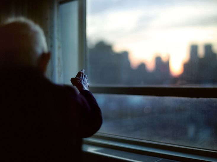 Image by Phil Toledano from 'Days With My Father'; When I had planned on having portraits of my nonna in my series, I was considering making an image similar to this of her looking out of the kitchen window above the kitchen sink, which is something that she does a lot whilst she cooks.