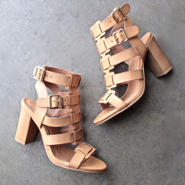 on the go double buckle sandal - burnish camel - shophearts - 1