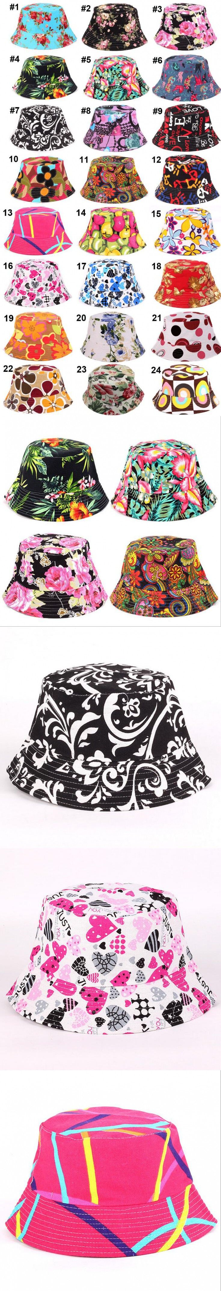 27 desings Fashion Women Sports Bucket Hats print flower sun hat cap outdoor travel hat fishing cap mountaineering sunscreen cap $18.5