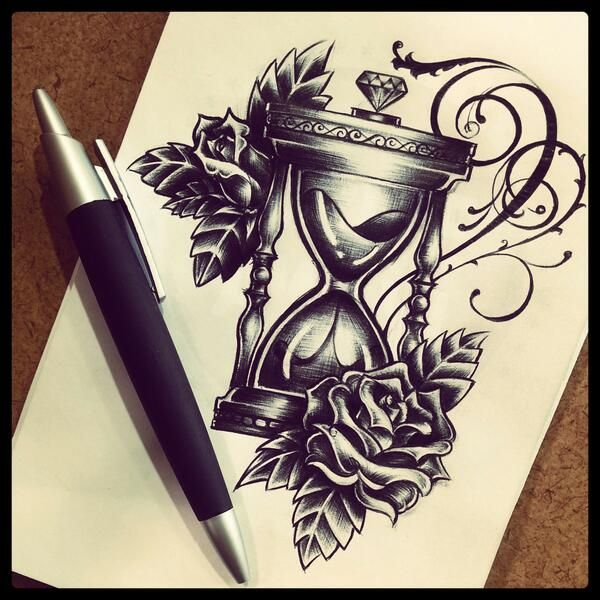 hourglass designs tattoos - Google Search this would be a pretty thigh tattoo
