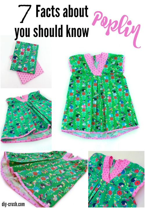 7 Facts about Poplin Fabric you should know and why it's the perfect summer material to sew with. Showcased here on this pretty top | DIY Crush