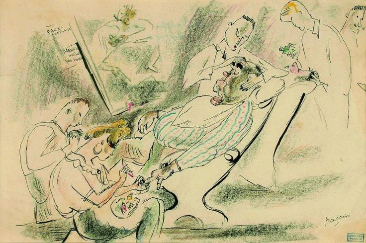 Жюль Паскин. «У стильного парикмахера», 1919 г.