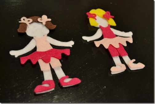 No tutorial, but cute idea ... could maybe be done with some online paper dolls
