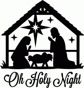 Silhouette Design Store: oh holy night nativity