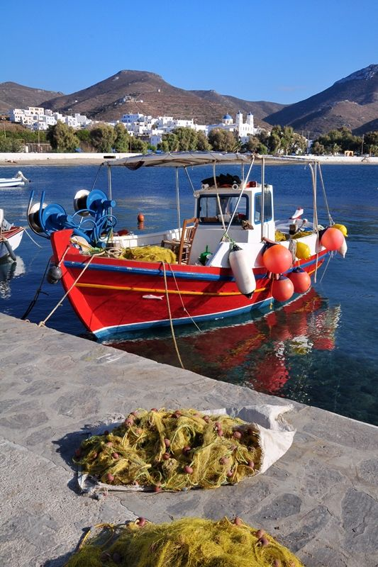 A fishing boat at Amorgos island, Greece  Greece a dream of mine too