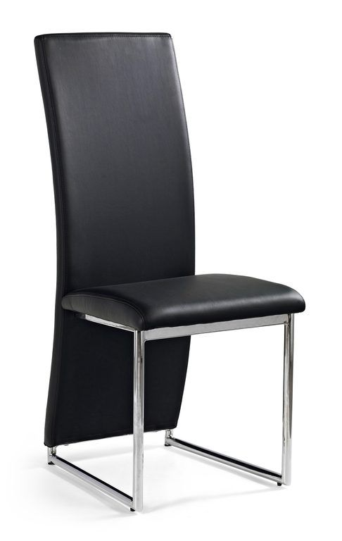 moderne zwarte eetkamerstoel