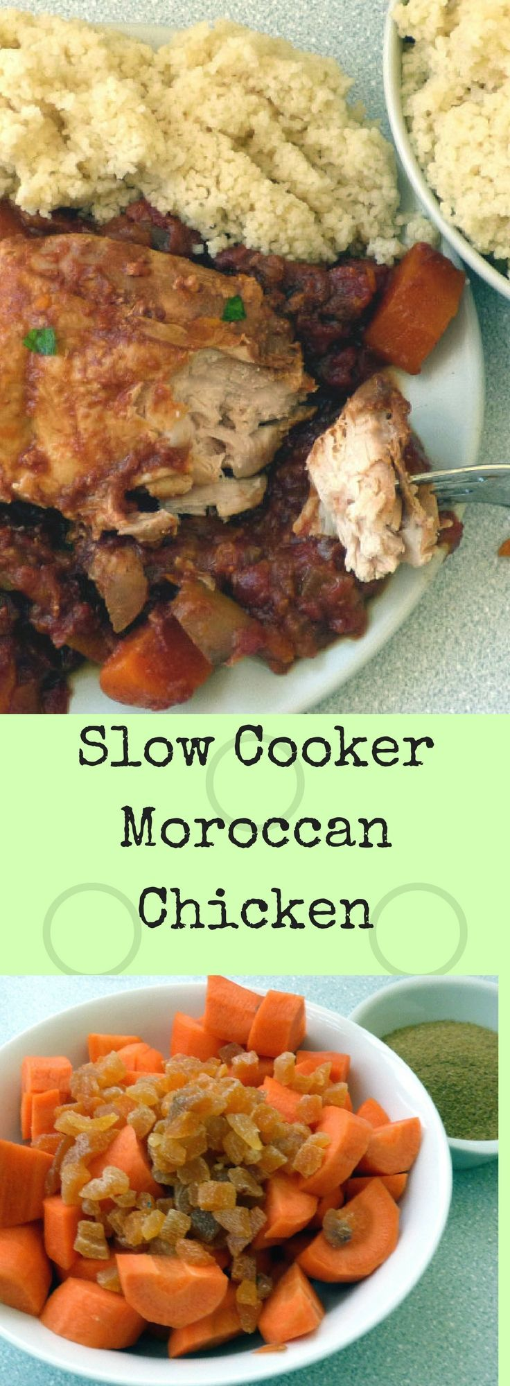 Travel the world in your own kitchen with this easy low fat slow cooker comfort food chicken recipe