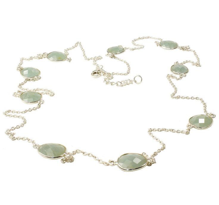 Flora Bee Aquamarine Gem Necklace