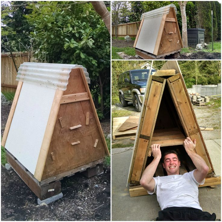 Wonderful Diy Recycled Chicken Coops: Chicken Coop Made From 3 Recycled Pallets • Pallet Ideas