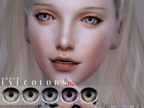 The Sims Resource: Eyecolors 02 by Bobur • Sims 4 Downloads